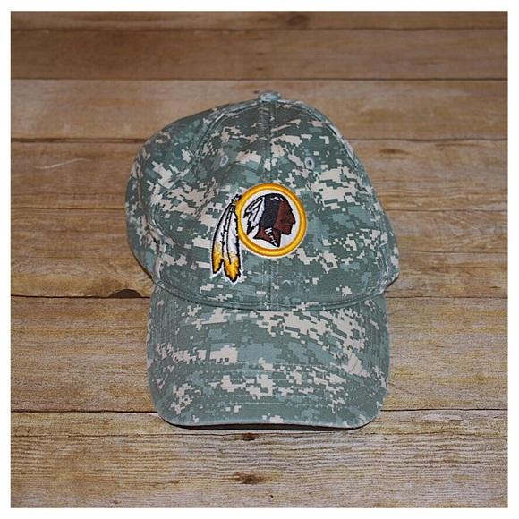 NFL Washington Redskins Camo Hat. M 5b1ff4d6e944ba0a4aa24aa7 5fdde239489
